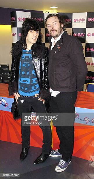 Noel Fielding and Julian Barratt during The Mighty Boosh Series 2 DVD Release and Signing at HMV in London March 30 2006 at HMV Oxford Street in...