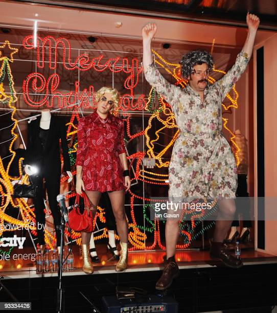 Noel Fielding and Julian Barratt of The Mighty Boosh attend the switching on of Stella McCartney's London store Christmas Lights on November 23 2009...