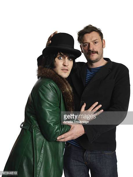 Noel Fielding and Julian Barratt of The Mighty Boosh pose for a portrait shoot in London on October 6 2008