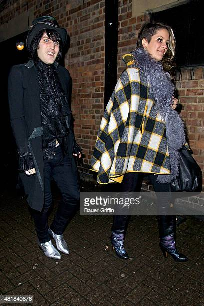 Noel Fielding and Lliana Bird are seen arriving at the NME Awards on February 23 2011 in London United Kingdom