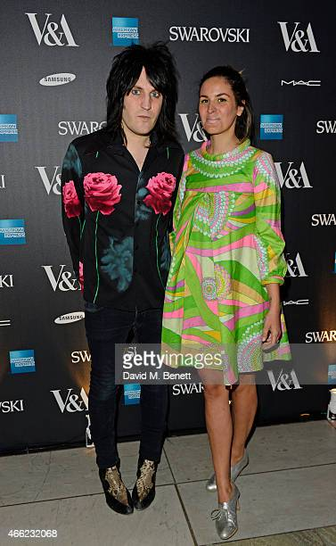 Noel Fielding and Lliana Bird arrive at the Alexander McQueen Savage Beauty VIP private view at the Victoria and Albert Museum on March 14 2015 in...
