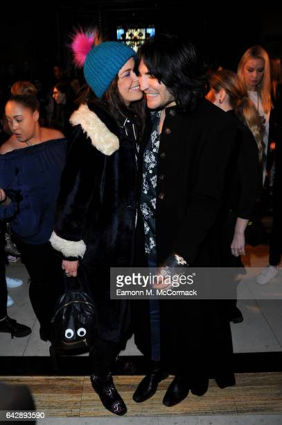 Noel Fielding and Lliana Bird attend the Pam Hogg show during the London Fashion Week February 2017 collections on February 19 2017 in London England