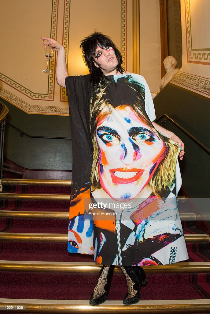 Noel Fielding attends a private view of the Noel Fielding art exhibition 'He Wore Dreams Around Unkind Faces' at the Royal Albert Hall on March 16, 2015 in London, England.
