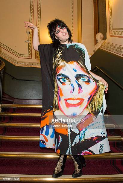 Noel Fielding attends a private view of the Noel Fielding art exhibition 'He Wore Dreams Around Unkind Faces' at the Royal Albert Hall on March 16...