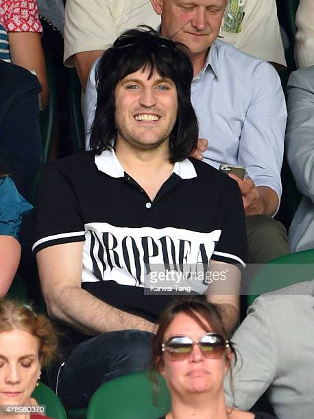 Noel Fielding attends the Maria Sharapova v Johanna Konta match on day one of the Wimbledon Tennis Championships on June 29 2015 in London England