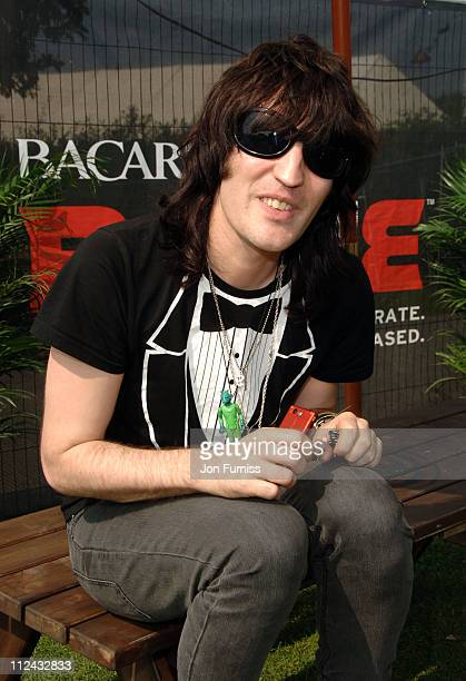 Noel Fielding during Isle of Wight Festival 2007 Bacardi BLive Backstage at Newport in Isle of Wight Great Britain