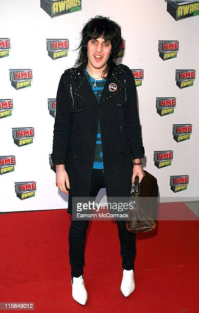 Noel Fielding from the Mighty Boosh during Shockwaves NME Awards 2007 Red Carpet Arrivals at Hammersmith Palais in London United Kingdom