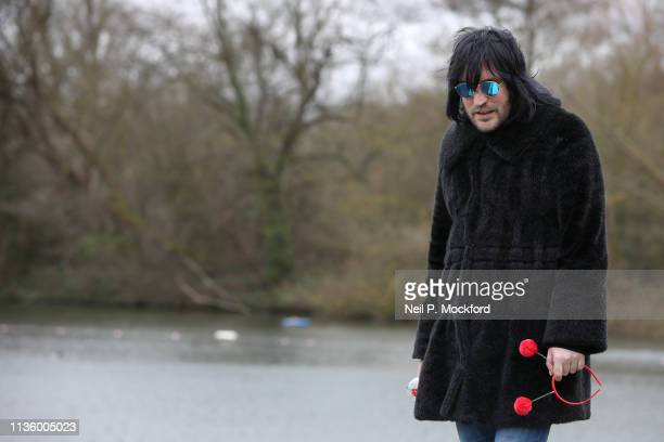 Noel Fielding supports Red Nose Day by swimming in cold water for Mental Health programmes on March 15 2019 in London England