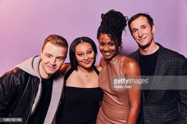 Noel Fisher Aliyah Royale Emayatzy Corinealdi and Noah Wyle of CBS's 'The Red Line' pose for a portrait during the 2019 Winter TCA Getty Images...
