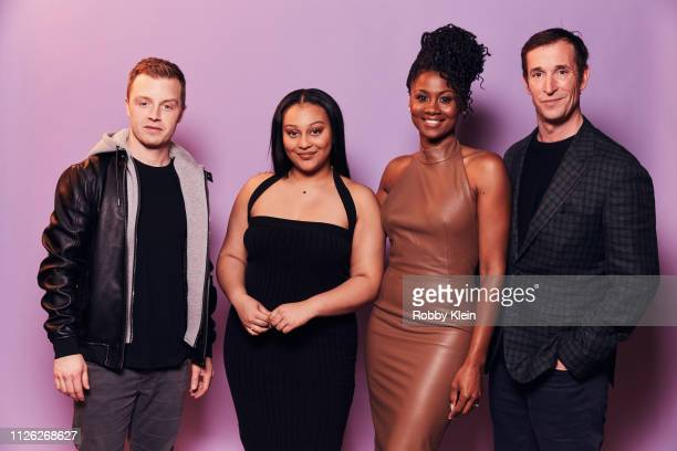 Noel Fisher Aliyah Royale Emayatzy Corinealdi and Noah Wyle of CBS's 'The Red Line' pose for a portrait during the 2019 Winter TCA at The Langham...