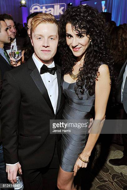 Noel Fisher and Layla Alizada attend the 3rd Annual 'An Evening With Canada's Stars' at the Four Seasons Hotel Los Angeles on February 25 2016 in Los...
