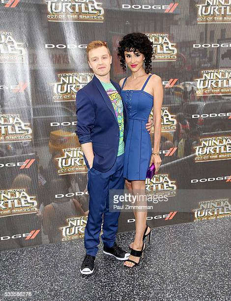 Noel Fisher and Layla Alizada attend the Teenage Mutant Ninja Turtles Out Of The Shadows world premiere at Madison Square Garden on May 22 2016 in...