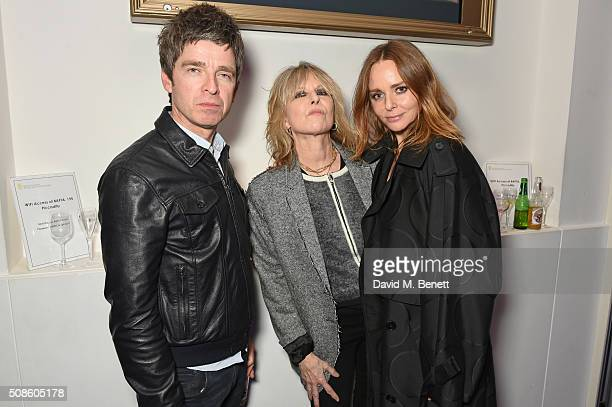 Noel Gallagehr Chrissie Hynde and Stella McCartney attend a cast and crew screening of 'This Beautiful Fantastic' at BAFTA on February 5 2016 in...