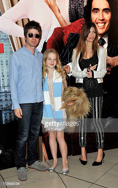 Noel Gallagher Anais Gallagher and Sarah McDonald attend the 'Arthur' European premiere at Cineworld 02 Arena on April 19 2011 in London England