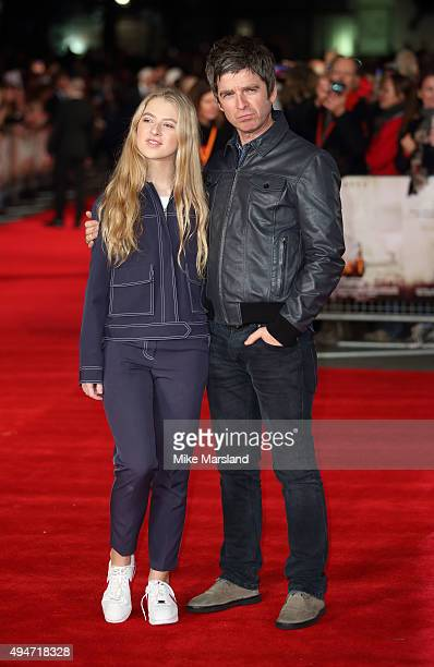 Noel Gallagher and Anais Gallagher attend the 'Burnt' European premiere at the Vue West End on October 28 2015 in London England