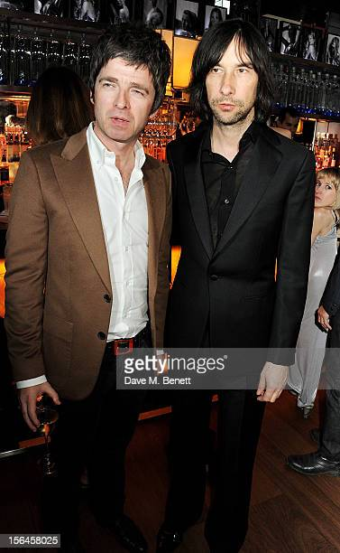 Noel Gallagher and Bobby Gillespie attend an after party celebrating the launch of 'Kate The Kate Moss Book' hosted by Marc Jacobs published by...