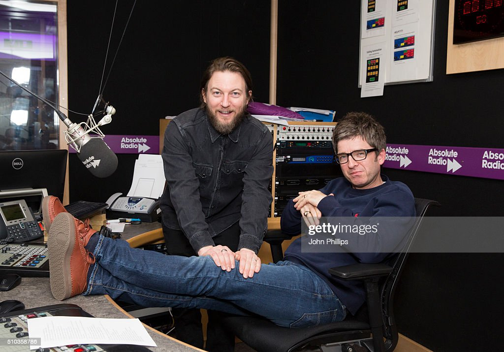 Noel Gallagher and comedian, Matt Morgan host a special show for Absolute Radio on February 11, 2016 in London, England.