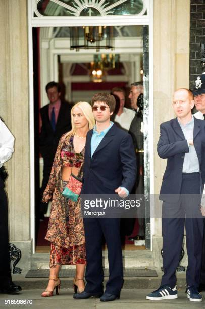 Noel Gallagher and his girlfriend Meg Matthews at 10 Downing Street for a party held by Prime Minister Tony Blair Many celebrities also attended...