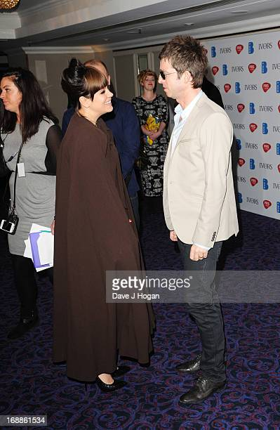 Noel Gallagher and Lily Allen attends the Ivor Novello Awards 2013 at The Grosvenor House Hotel on May 16 2013 in London England