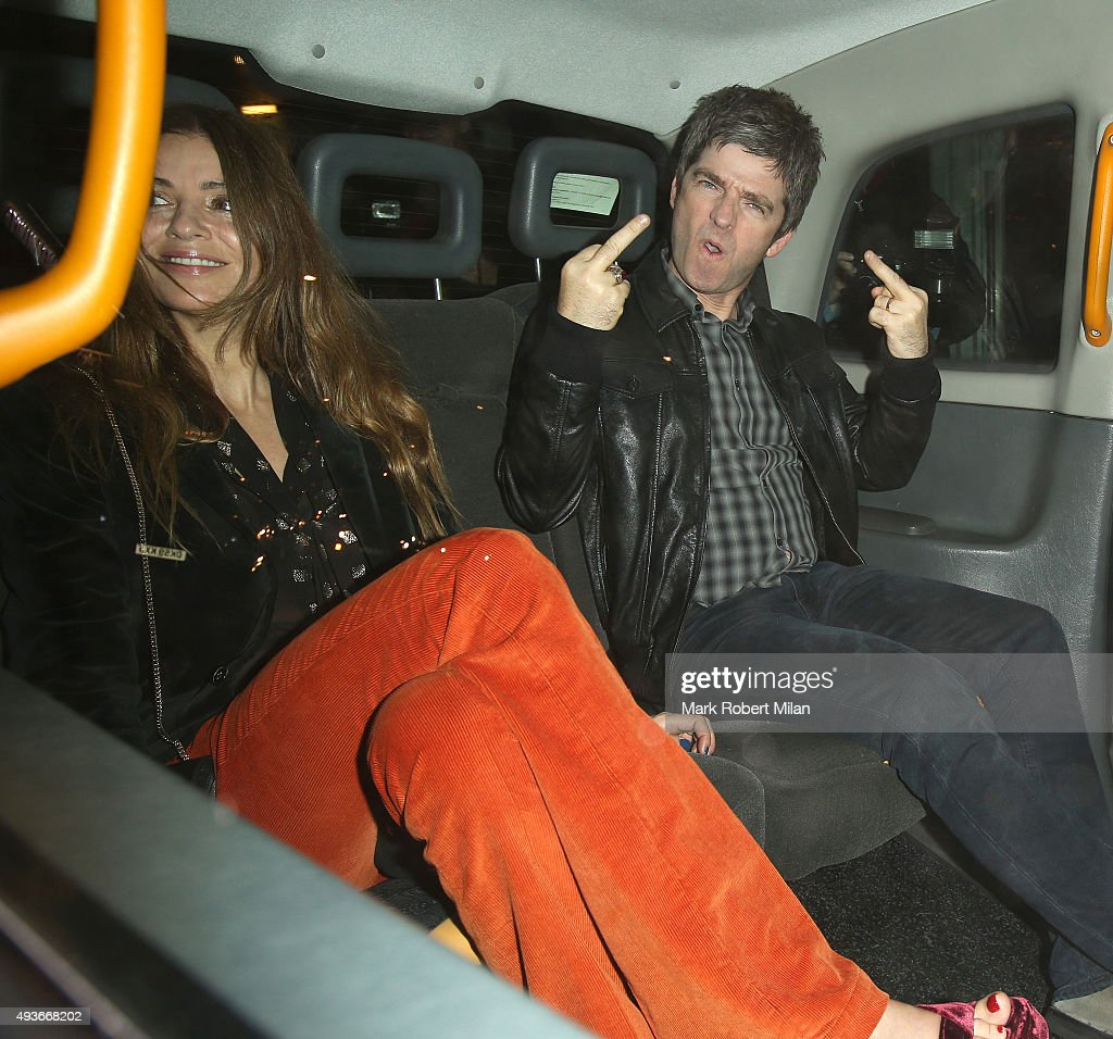 Noel Gallagher and Sara Macdonald at Sexy Fish on October 21, 2015 in London, England.