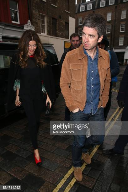 Noel Gallagher and Sara MacDonald attend the BAFTAs Working Title VIP Brunch at the Chiltern Firehouse on February 11 2017 in London England