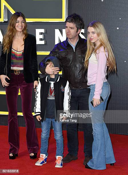 Noel Gallagher and Sara MacDonald attend the European Premiere of 'Star Wars The Force Awakens' at Leicester Square on December 16 2015 in London...