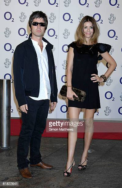 Noel Gallagher and Sara MacDonald attend the O2 Silver Clef Lunch at the Park Lane Hilton on July 4, 2008 in London, England.