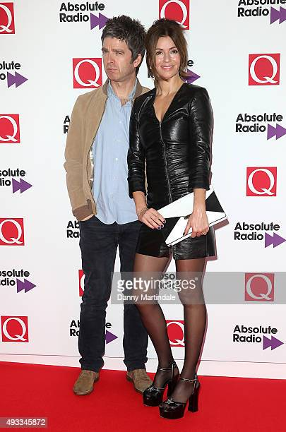 Noel Gallagher and Sara MacDonald attend the Q Awards at The Grosvenor House Hotel on October 19 2015 in London England