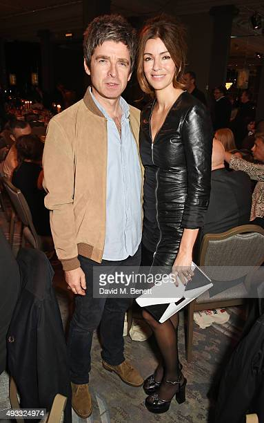 Noel Gallagher and Sara Macdonald attend The Q Awards drinks reception at The Grosvenor House Hotel on October 19 2015 in London England