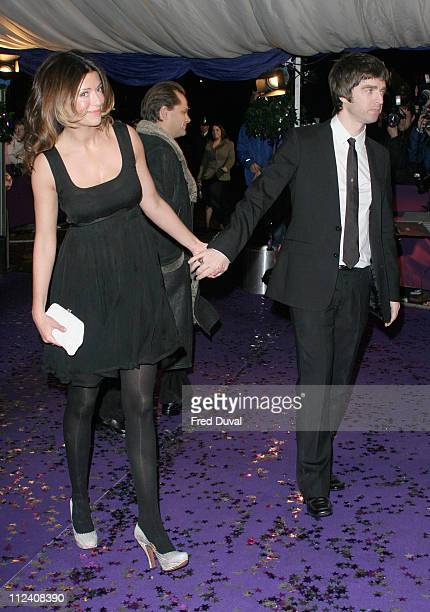 Noel Gallagher and Sara MacDonald during British Comedy Awards 2004 Arrivals at LWT Southbank in London Great Britain