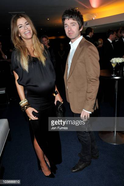Noel Gallagher and Sarah McDonald arrive for the GQ Men of the Year Awards 2010 at The Royal Opera House on September 7 2010 in London England