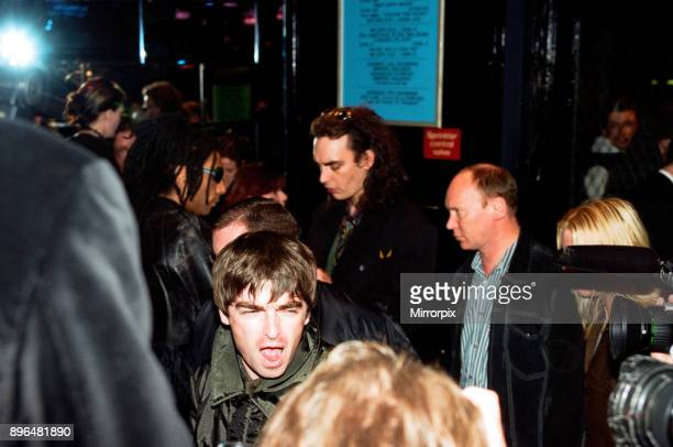 Noel Gallagher at the launch of The Rolling Stones video 'Circus' Picture taken 15th October 1996
