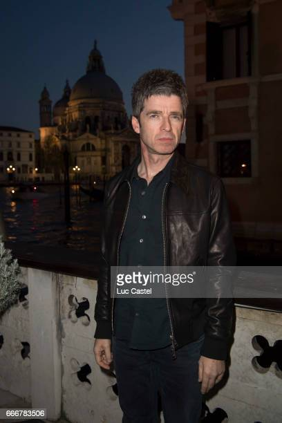 Noel Gallagher attends the opening of Damien Hirst 'Treasures From The Wreck Of The Unbelievable' new exhibition on April 8 2017 in Venice Italy