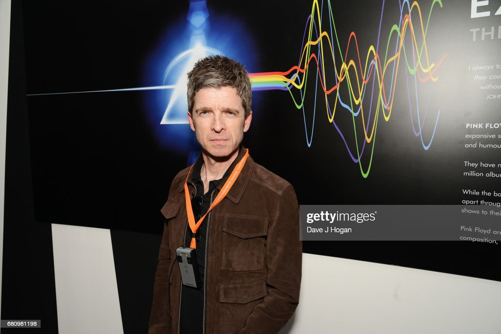 Noel Gallagher attends The Pink Floyd Exhibition: 'Their Mortal Remains' private view at The V&A on May 9, 2017 in London, United Kingdom.