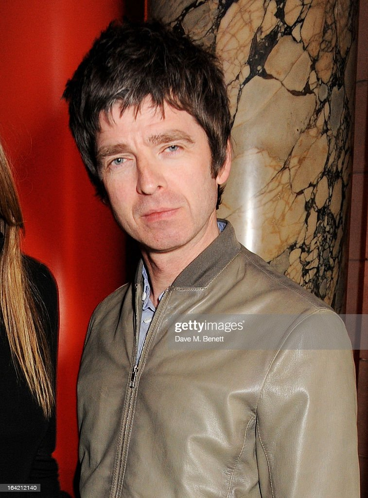 Noel Gallagher attends the private view for the 'David Bowie Is' exhibition in partnership with Gucci and Sennheiser at the Victoria and Albert Museum on March 20, 2013 in London, England.