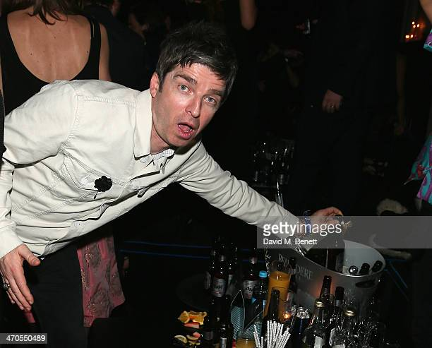 Noel Gallagher attends The Warner Music Group And Belvedere Brit Awards After Party In Association With Vanity Fair at The Savoy Hotel on February 19...