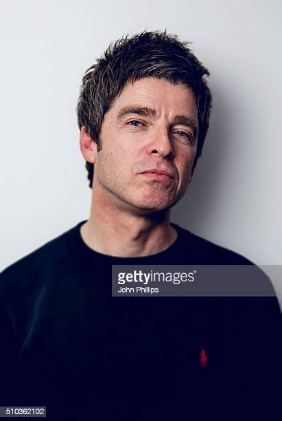Noel Gallagher CoHosts a special show for absolute radio with Matt Morgan at Absolute Radio on February 11 2016 in London England