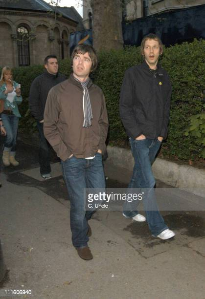 Noel Gallagher during Coldplay Secret Performance Arrivals at Round Chapel Church Hackney in London Great Britain
