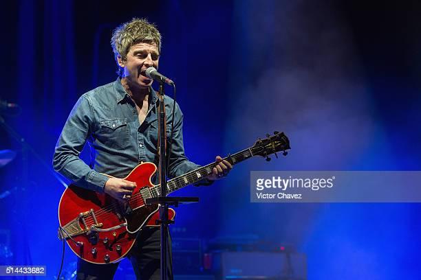 Noel Gallagher of Noel Gallagher's High Flying Birds performs at Teatro Diana during the Festival Internacional De Cine En Guadalajara FICG31 on...
