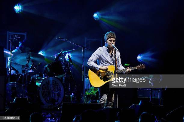 Noel Gallagher of Noel Gallagher's High Flying Birds performs at WaMu Theater on October 24 2012 in Seattle Washington