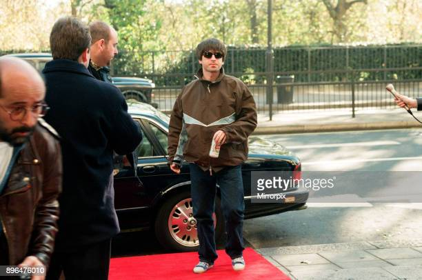 Noel Gallagher of Oasis arrives at The Park Lane Hotel for the Q Awards Picture taken 8th November 1996
