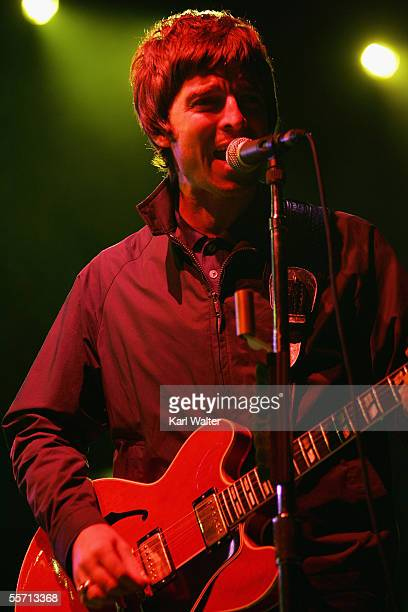Noel Gallagher of Oasis performs at the Hyundai Pavilion at Glen Helen as part of KROQ's Inland Invasion 5 on September 17 2005 in San Bernardino...