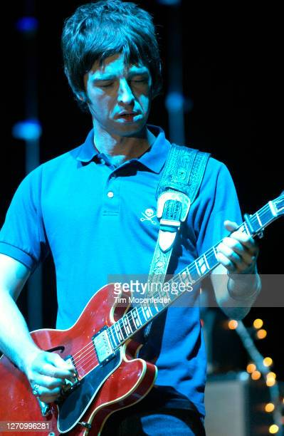 Noel Gallagher of Oasis performs during day two of the Austin City Limits Music Festival at Zilker Park on September 24, 2005 in Austin, Texas.