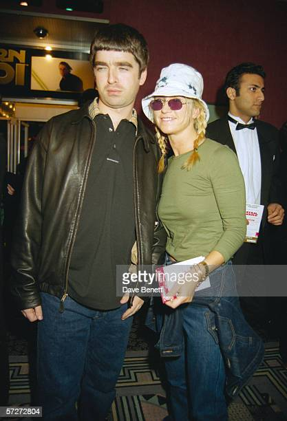 Noel Gallagher of rock group Oasis with his wife Meg Matthews at the premiere of the 'Star Wars' Special Edition at the Odeon Leicester Square London...