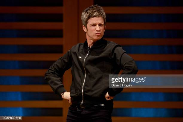 Noel Gallagher on stage during the launch of his new book Any Road Will Get Us There at Kings Place on October 23 2018 in London England