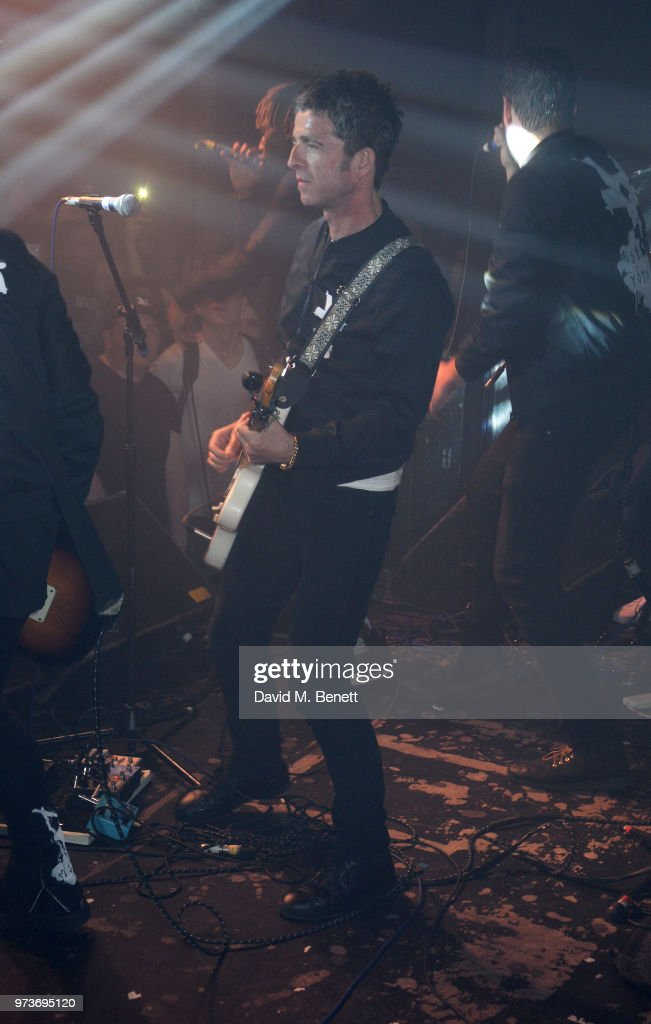 Noel Gallagher performs with YOTA at XOYO on June 13, 2018 in London, England.