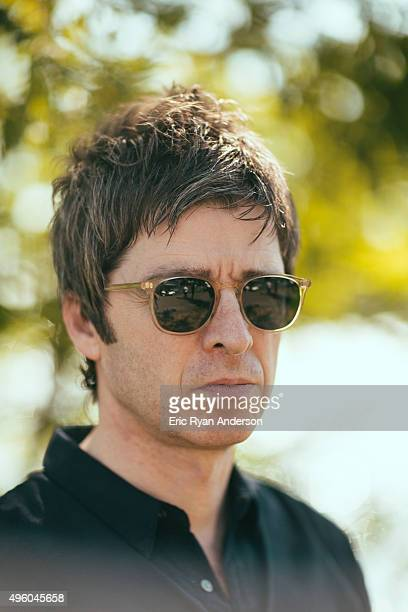 Noel Gallagher poses for a portrait at the Governors Ball 2015 Music Festival for Billboard Magazine on June 6 2015 in New York City