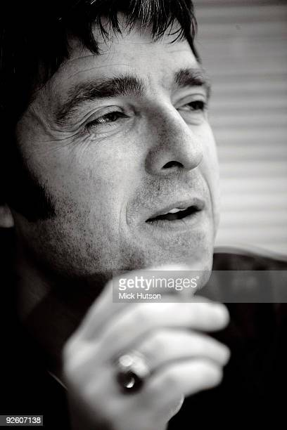 Noel Gallagher poses for a portrait backstage at an Oasis concert at the Heineken Music Hall on January 21st 2009 in Amsterdam Netherlands