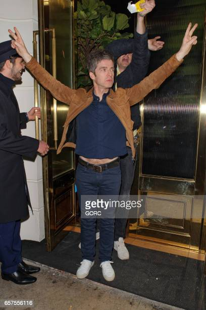 Noel Gallagher sighting at Isabels restaurant Mayfair on March 24 2017 in London England