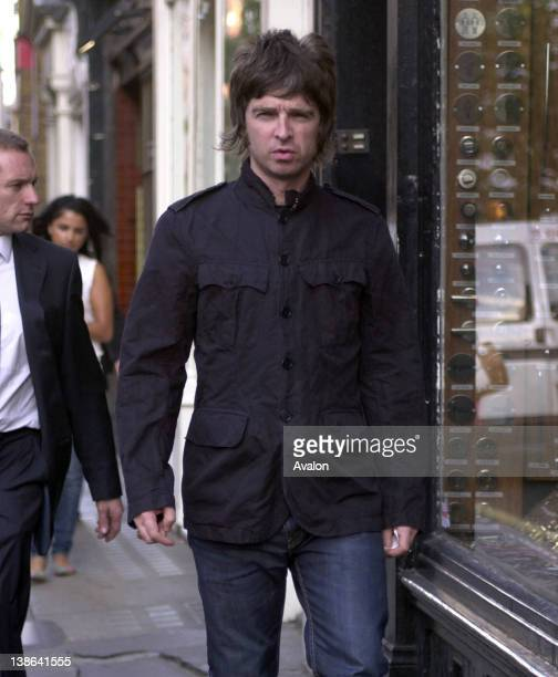Noel Gallagher walking through Soho London 14th September 2007